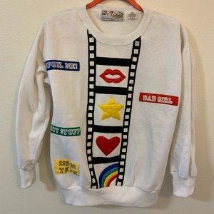 Vintage Tops - Vintage film strip sweatshirt